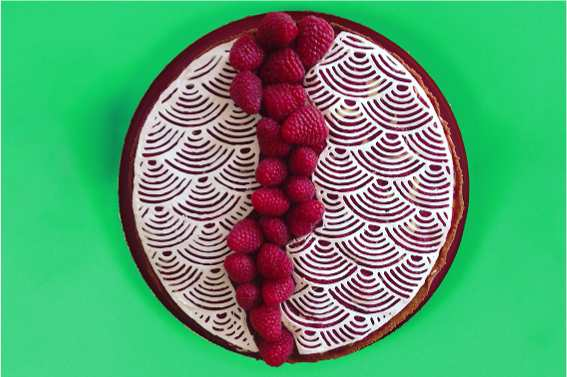 Rasberry pastry made with Cakewalk 3d